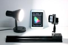 light measured with smartphone spectrometer